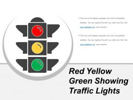 Red Yellow Green Showing Traffic Lights