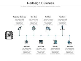 Redesign Business Ppt Powerpoint Presentation Infographic Template Display Cpb