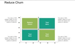 Reduce Churn Ppt Powerpoint Presentation Infographics Infographic Template Cpb