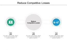 Reduce Competitive Losses Ppt Powerpoint Presentation File Design Inspiration Cpb