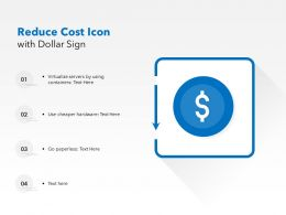 Reduce Cost Icon With Dollar Sign