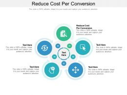 Reduce Cost Per Conversion Ppt Powerpoint Presentation Layouts Topics