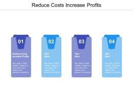 Reduce Costs Increase Profits Ppt Powerpoint Presentation File Templates Cpb