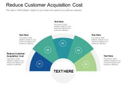 Reduce Customer Acquisition Cost Ppt Powerpoint Presentation Styles Deck Cpb