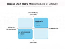 Reduce Effort Matrix Measuring Level Of Difficulty