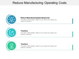 Reduce Manufacturing Operating Costs Ppt Powerpoint Presentation Gallery Backgrounds Cpb