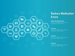 Reduce Medication Errors Ppt Powerpoint Presentation Outline Guidelines