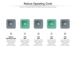 Reduce Operating Costs Ppt Powerpoint Presentation Professional Topics Cpb