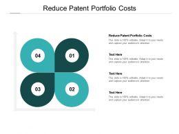 Reduce Patent Portfolio Costs Ppt Powerpoint Presentation Styles Portfolio Cpb