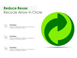 Reduce Reuse Recycle Arrow In Circle