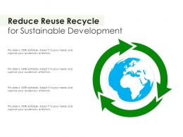 Reduce Reuse Recycle For Sustainable Development