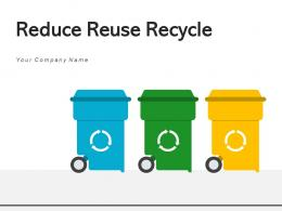Reduce Reuse Recycle Resources Arrows Environment Pollution Sustainable Development