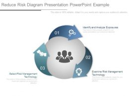 Reduce Risk Diagram Presentation Powerpoint Example