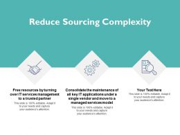 Reduce Sourcing Complexity Big Data Ppt Powerpoint Presentation Gallery Clipart