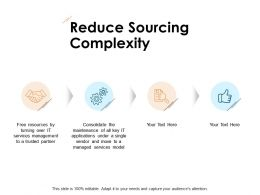 Reduce Sourcing Complexity Gears Opportunity Ppt Powerpoint Presentation Ideas Shapes