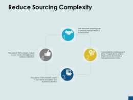 Reduce Sourcing Complexity Gears Technology E58 Ppt Powerpoint Presentation Ideas Tips