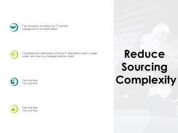 Reduce Sourcing Complexity Model Ppt Powerpoint Presentation Summary Files