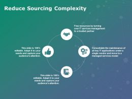 Reduce Sourcing Complexity Services Ppt Powerpoint Presentation Show Graphics Design