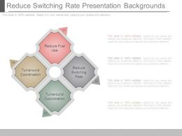 Reduce Switching Rate Presentation Backgrounds