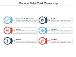Reduce Total Cost Ownership Ppt Powerpoint Presentation Professional Model Cpb