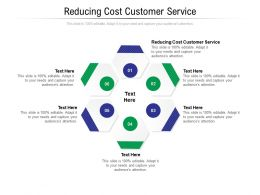 Reducing Cost Customer Service Ppt Powerpoint Presentation Inspiration Layouts Cpb
