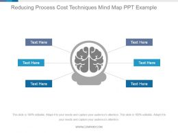 Reducing Process Cost Techniques Mind Map Ppt Example