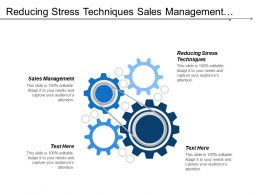 Reducing Stress Techniques Sales Management Project Planning Tools Cpb