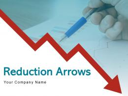 Reduction Arrows Business Recession Crisis Arrows Management Dollar Statistical