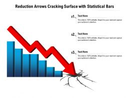 Reduction Arrows Cracking Surface With Statistical Bars