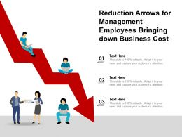 Reduction Arrows For Management Employees Bringing Down Business Cost