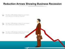 Reduction Arrows Showing Business Recession