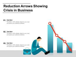 Reduction Arrows Showing Crisis In Business