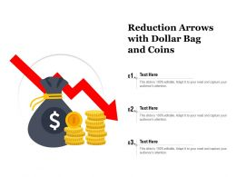Reduction Arrows With Dollar Bag And Coins