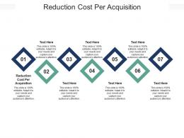 Reduction Cost Per Acquisition Ppt Powerpoint Presentation Pictures Clipart Cpb