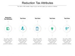 Reduction Tax Attributes Ppt Powerpoint Presentation Inspiration Aids Cpb
