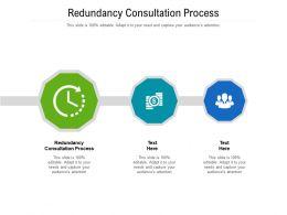 Redundancy Consultation Process Ppt Powerpoint Presentation Infographic Cpb