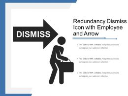 Redundancy Dismiss Icon With Employee And Arrow
