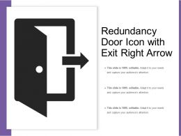 Redundancy Door Icon With Exit Right Arrow