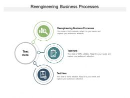 Reengineering Business Processes Ppt Powerpoint Presentation Slides Pictures Cpb