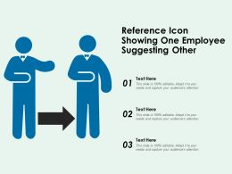 Reference Icon Showing One Employee Suggesting Other