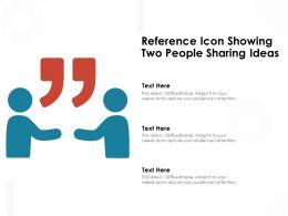 Reference Icon Showing Two People Sharing Ideas
