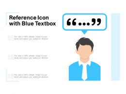 Reference Icon With Blue Textbox