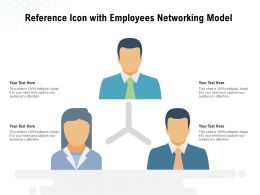Reference Icon With Employees Networking Model