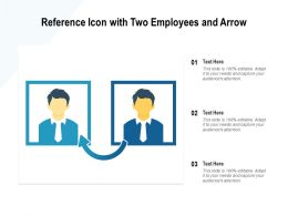 Reference Icon With Two Employees And Arrow