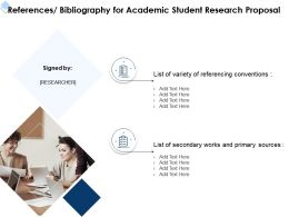 References Bibliography For Academic Student Research Proposal Ppt Powerpoint Gridlines