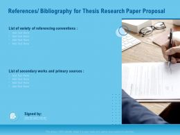 References Bibliography For Thesis Research Paper Proposal Ppt File Topics