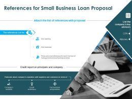 References For Small Business Loan Proposal Ppt Powerpoint Presentation Picture