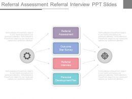 Referral Assessment Referral Interview Ppt Slides