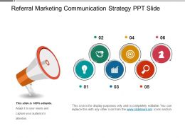 Referral Marketing Communication Strategy Ppt Slide