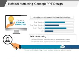 Referral Marketing Concept Ppt Design